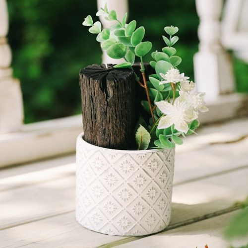 청정구역 순백의 꽃 숯화분-공기정화, 미세먼지제거, 습_(100797962)