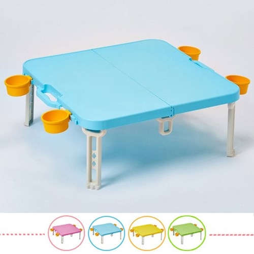 컬러 피크닉 휴대용 접이식 캠핑 테이블_(1616650)