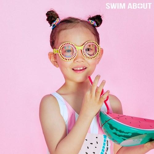 스윔어바웃 어린이 물안경 아동 수경 옐로우 팝_(1657780)