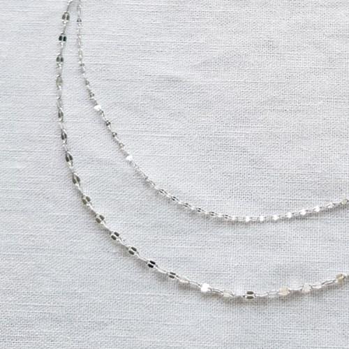 Nude Duo Necklace - Silver925