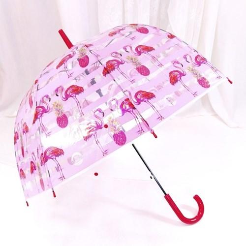 TW 플라밍고 투명 비닐 우산 돔모양 장우산