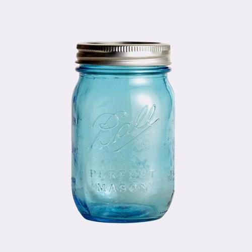 볼 메이슨자 헤리티지 100주년 블루 유리병 6p 세트 16oz(448ml)