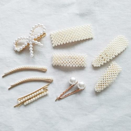 Ribbon Pearl Flip Clip