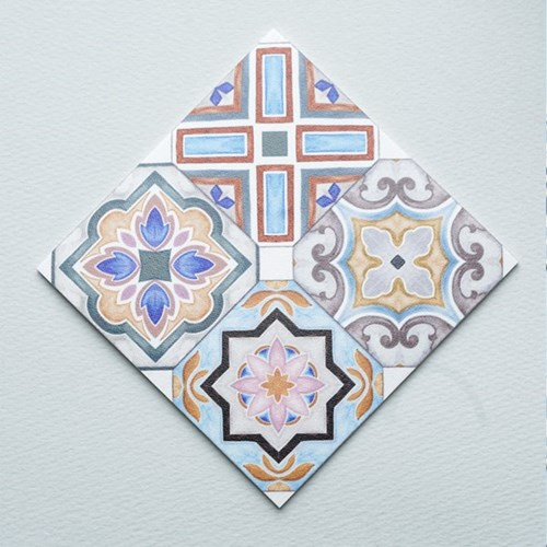 스페인 아다마알마 사각 코스터 - 포르토 믹스 10x10cm