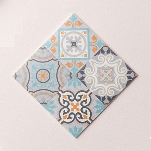 스페인 아다마알마 사각 코스터 - 프레스크 10x10cm