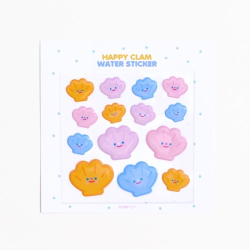 HAPPY CLAM water sticker