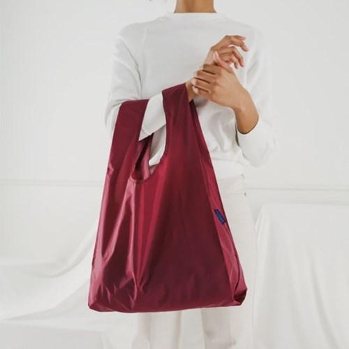 [바쿠백] 휴대용 장바구니 접이식 시장가방 Cranberry_(1721892)