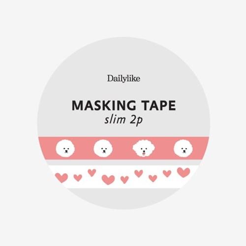Masking tape slim 2p - 12 Bichon frise