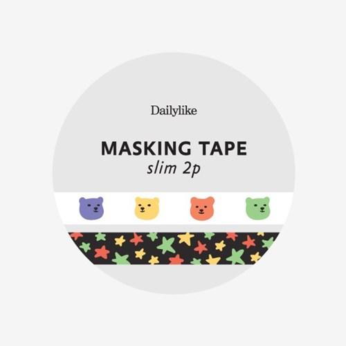 Masking tape slim 2p - 13 Jelly bear