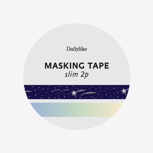 Masking tape slim 2p - 15 Shooting star