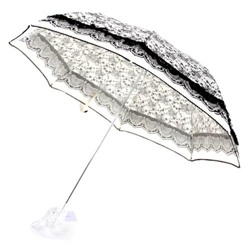 [더로라] 기라로쉬 3단 수동 양산 - 장미 레이스 양산 e566