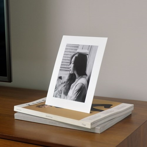 스탠딩 페이퍼프레임 - 5x7 화이트 5매 (종이액자)