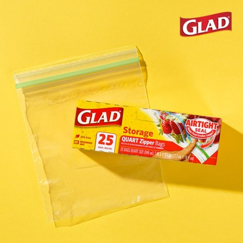 [GLAD]글래드 지퍼백 냉장형_중형(25매)