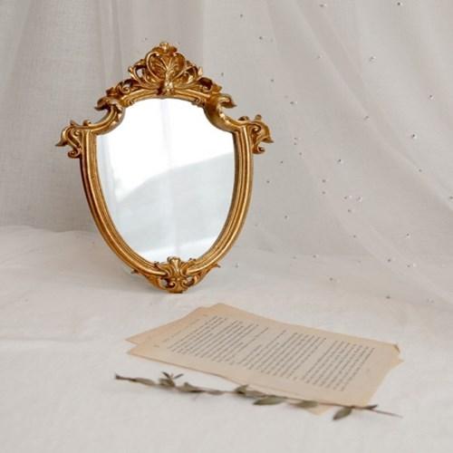 빈티지 골드 엔틱 미니 벽 거울