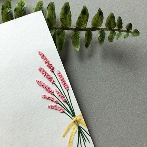 꽃다발 감성 엽서