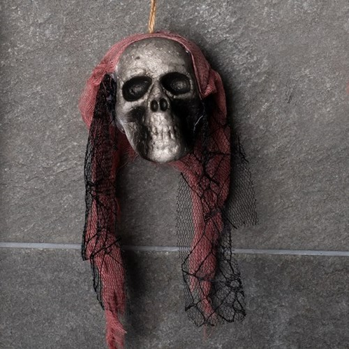 레이스망사 잘린 해골머리 장식 [핑크]_(11786410)