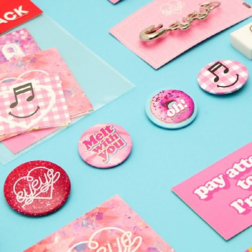 EYEYE BADGE SET NO.01_PINK (EEON3GD007W)