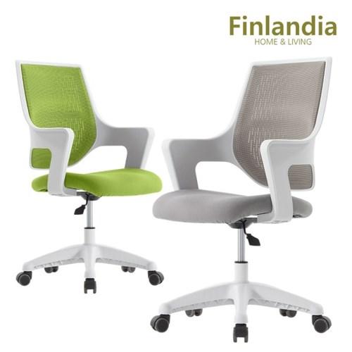 핀란디아 위즈빅 화이트 학생사무용 의자_(1211791)