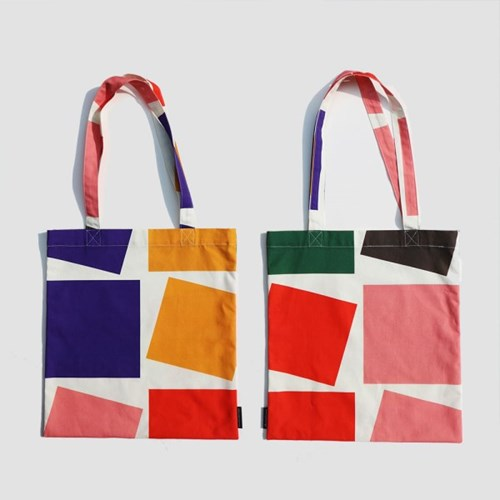 Geometric Square Bag (패브릭 가방)