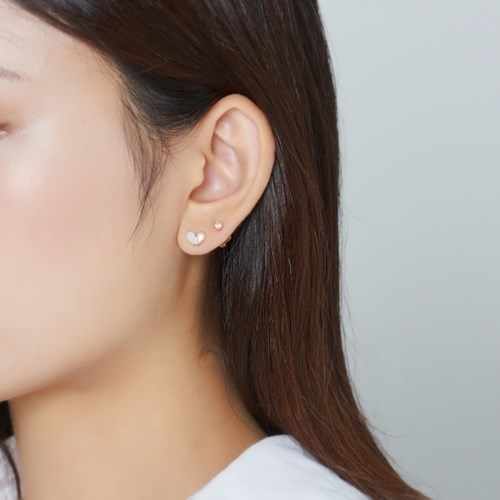 [SET] 하트 귀걸이 + 큐빅 귀걸이