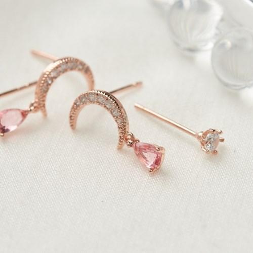 [SET] 문드롭 귀걸이 + 큐빅 귀걸이