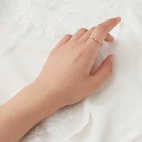 미니미 파이브 큐빅 반지