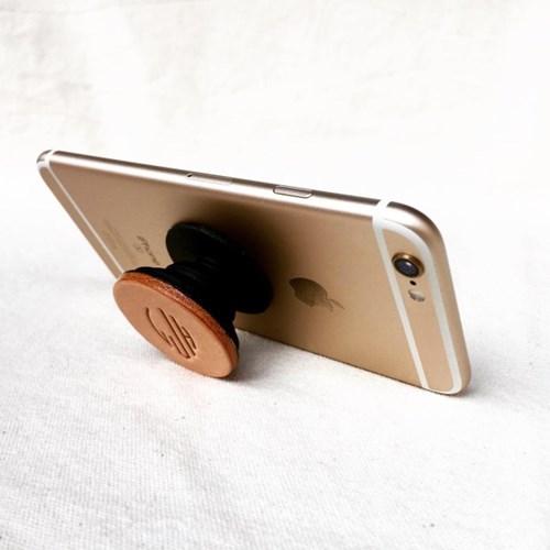 록빛 핸드메이드 이니셜 가죽 스마트폰 스마트톡 그립톡