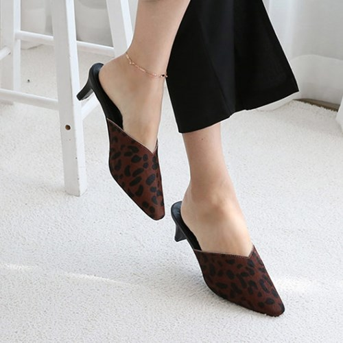kami et muse 5.5cm middle heel mule slippers_KM19w028