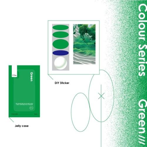Colour 'Green' 케이스 (젤리케이스&그린그래픽스티커 구성)
