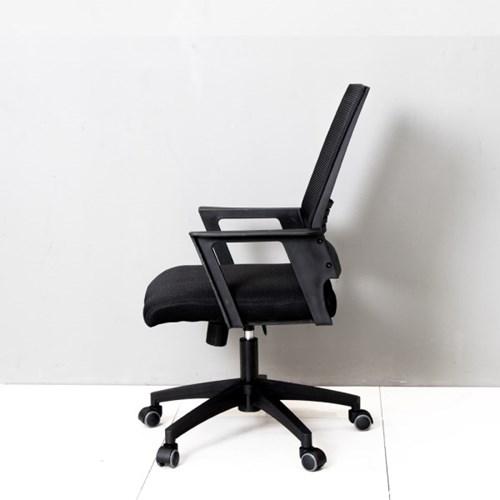 [리코베로]릴렉스 사무실 컴퓨터 메쉬의자 요추체어 블랙