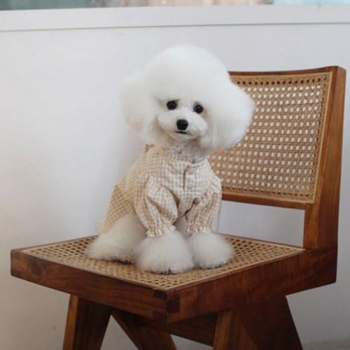 멍고메리 코지 오가닉 강아지 파자마 블라우스