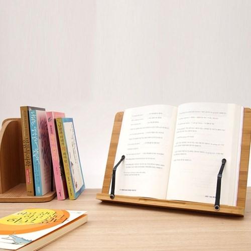 대나무 원목 수험생 학생 책 보조 거치 받침 독서대_(1333116)