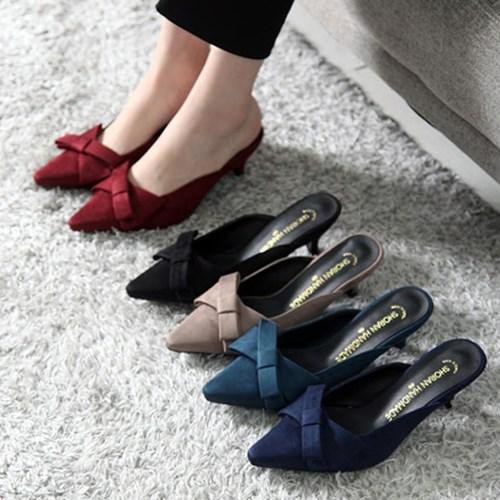 kami et muse Slim heel ribbon stiletto mule _KM19w035