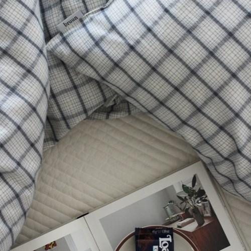 [브룬] 잉글리쉬 코튼 체크 침구(K)