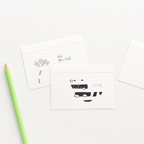 룰드 인덱스카드 화이트 100매 - 3.5x5