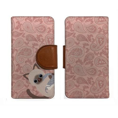 minicats인디페이즐리_Leather handle wallet + cross strap