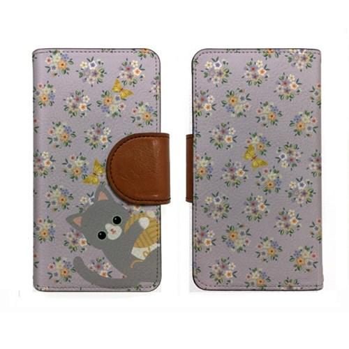 minicats버터플라이_Leather handle wallet + cross strap