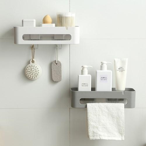 [아토소] 벽 수납 욕실 주방 무지주 일자 선반