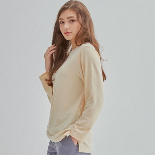 DAILY BASIC WOOL T-SHITR IVORY