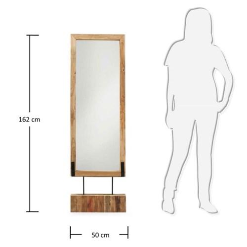 바낭 원목 스탠딩 전신 거울