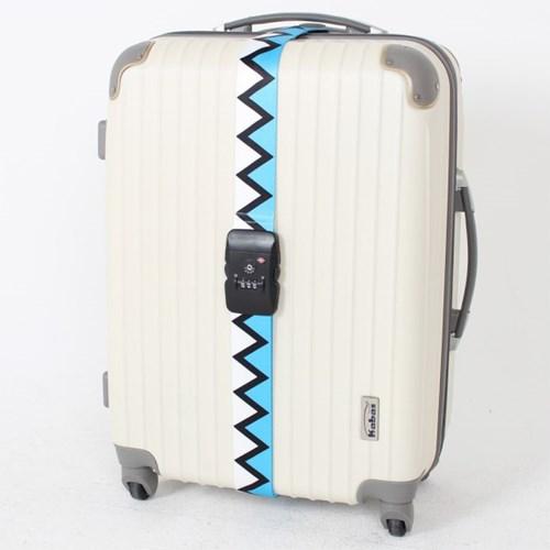 [TCUBE] TSA 3다이얼 여행가방 터짐방지 가방보호벨트 - 지그재그