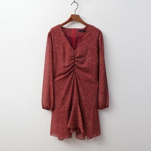 Flare Chiffon Mini Dress