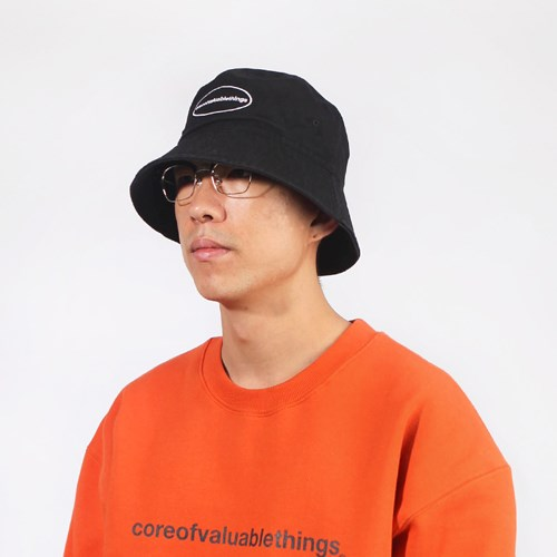 CORE BUCKET HAT-BLACK