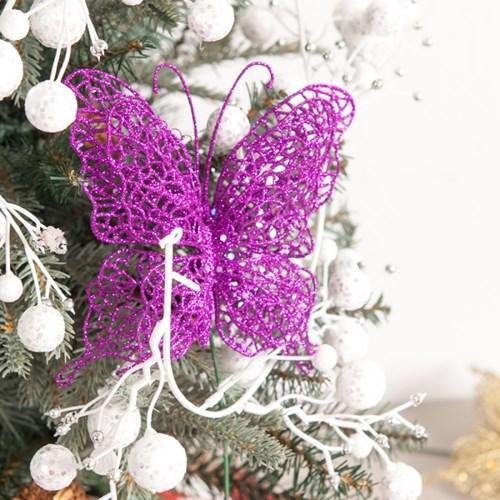 나비 15cm(2PCS) 트리 크리스마스 장식 소품 TROMCG_(1420480)