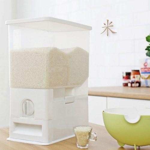 쌀통 밀페형 벌레방지 쌀보관통 자동계량 10kg 보관