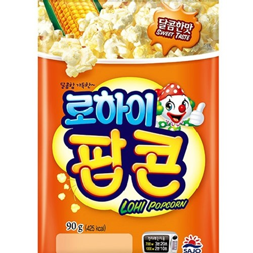 사조 전자렌지3분OK 팝콘달콤한맛90gx12봉