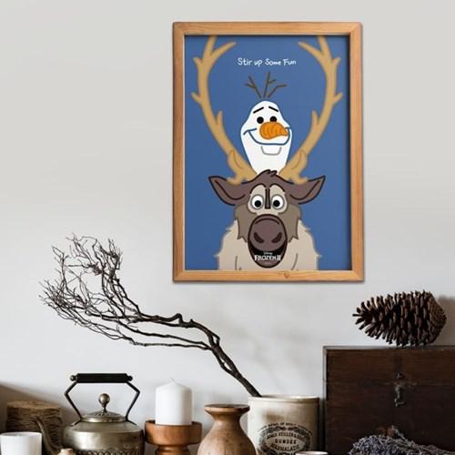 디즈니 인테리어 포스터 - 겨울왕국2 라인포스터 5종