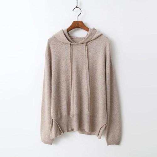 Angora Wool Hood Sweater