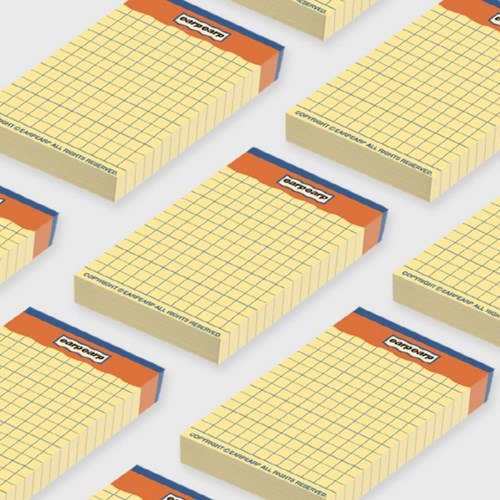 signature yellow point memo pad-orange(떡메모지)_(1352424)