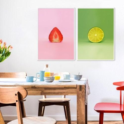 복을 불러오는 과일 그림 팝아트 포스터 16종